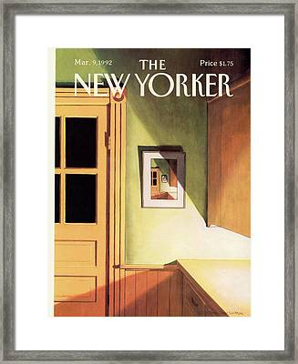 New Yorker March 9th, 1992 Framed Print by Gretchen Dow Simpson