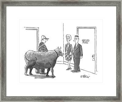 New Yorker March 9th, 1998 Framed Print by Peter Steiner