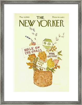 New Yorker May 10th, 1969 Framed Print