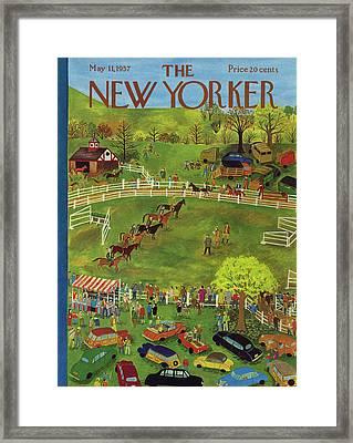 New Yorker May 11th, 1957 Framed Print by Ilonka Karasz