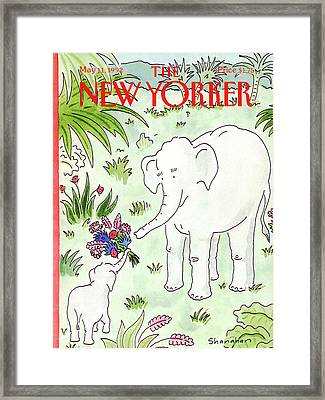 New Yorker May 11th, 1992 Framed Print by Danny Shanahan