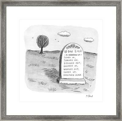 New Yorker May 11th, 1998 Framed Print by Roz Chast