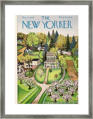 New Yorker May 12th, 1945 Framed Print by Edna Eicke