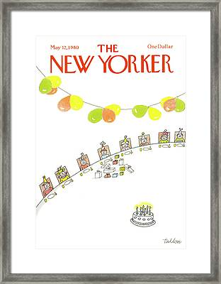 New Yorker May 12th, 1980 Framed Print by Robert Tallon