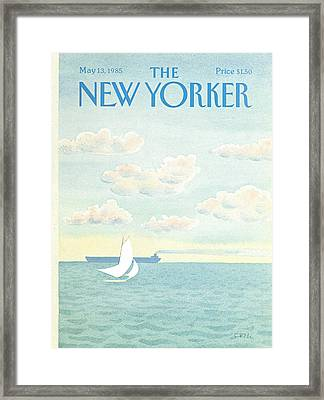 New Yorker May 13th, 1985 Framed Print by Charles E. Martin