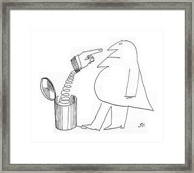 New Yorker May 14th, 1960 Framed Print by Saul Steinberg