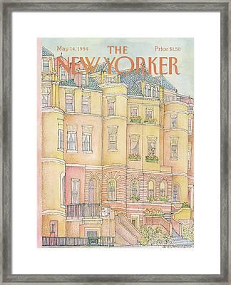 New Yorker May 14th, 1984 Framed Print by Iris VanRynbach