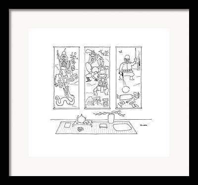 Timeline Drawings Framed Prints
