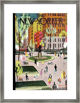 New Yorker May 18th, 1935 Framed Print by Adolph K. Kronengold