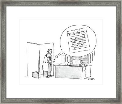 New Yorker May 18th, 1987 Framed Print by Jack Ziegler