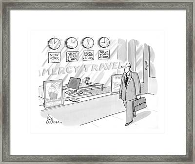 New Yorker May 18th, 1998 Framed Print by Leo Cullum