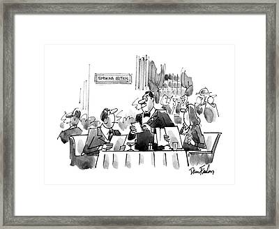 New Yorker May 19th, 1986 Framed Print