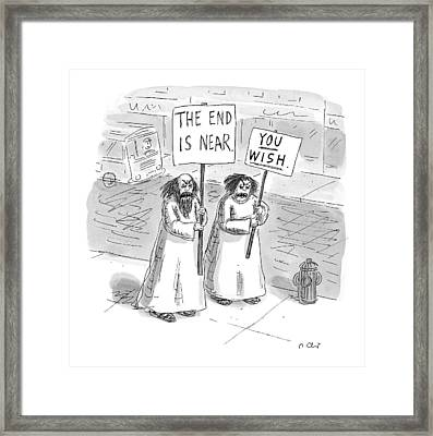 New Yorker May 19th, 1997 Framed Print by Roz Chast