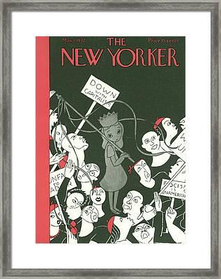 New Yorker May 1st, 1937 Framed Print by Christina Malman