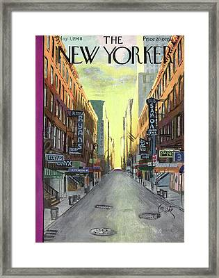 New Yorker May 1st, 1948 Framed Print by Arthur Getz