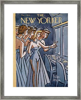 New Yorker May 1st, 1954 Framed Print by Peter Arno