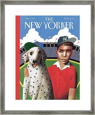 New Yorker May 1st, 1995 Framed Print by Mark Ulriksen