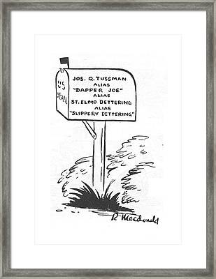 New Yorker May 20th, 1944 Framed Print