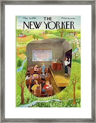 New Yorker May 20th, 1950 Framed Print by Ilonka Karasz