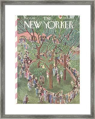 New Yorker May 23rd, 1942 Framed Print by Ilonka Karasz