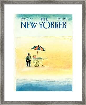 New Yorker May 25th, 1987 Framed Print