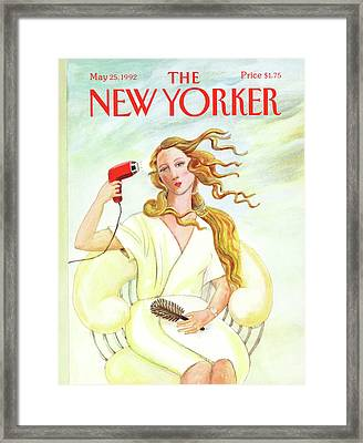 New Yorker May 25th, 1992 Framed Print
