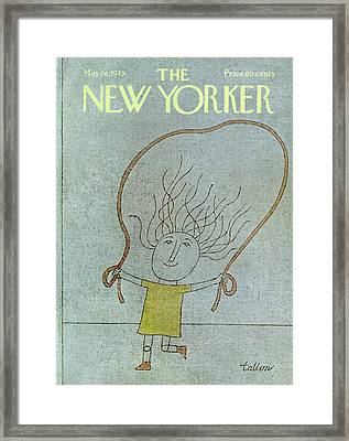 New Yorker May 26th, 1975 Framed Print by Robert Tallon