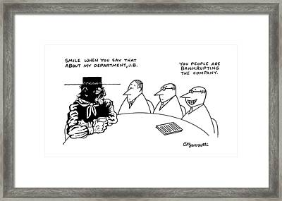 New Yorker May 27th, 1991 Framed Print by Charles Barsotti
