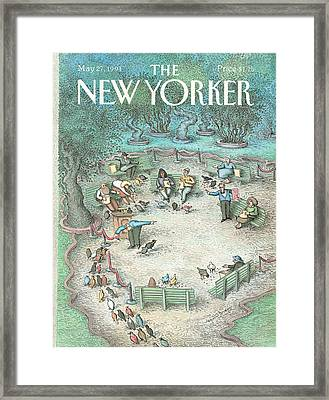 New Yorker May 27th, 1991 Framed Print by John O'Brie