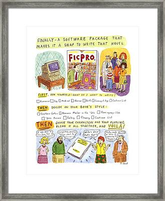 New Yorker May 27th, 1996 Framed Print by Roz Chast