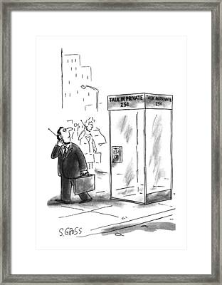 New Yorker May 27th, 1996 Framed Print by Sam Gross