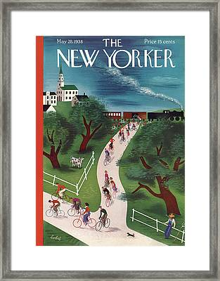 New Yorker May 28th, 1938 Framed Print by Victor Bobritsky