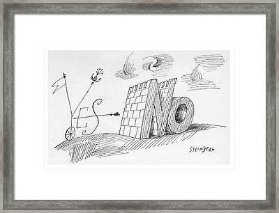 New Yorker May 28th, 1960 Framed Print by Saul Steinberg