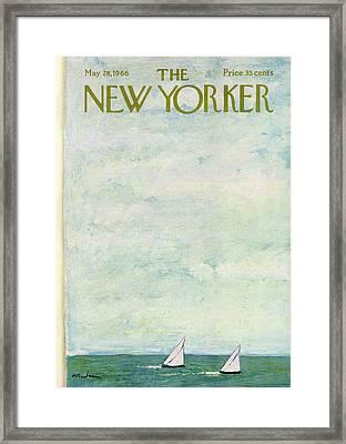 New Yorker May 28th, 1966 Framed Print by Abe Birnbaum
