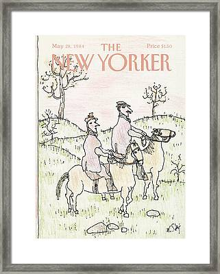 New Yorker May 28th, 1984 Framed Print by William Steig