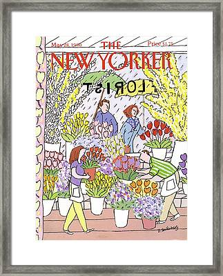 New Yorker May 28th, 1990 Framed Print by Devera Ehrenberg