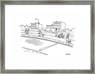New Yorker May 28th, 1990 Framed Print by Jack Ziegler