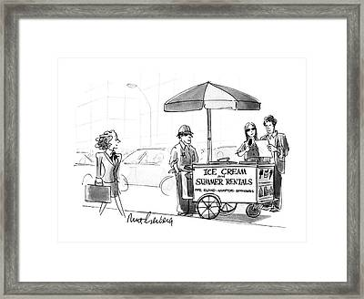 New Yorker May 28th, 1990 Framed Print by Mort Gerberg