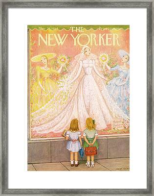 New Yorker May 29th, 1954 Framed Print by Edna Eicke