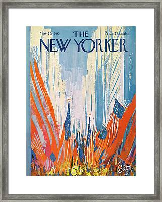 New Yorker May 29th, 1965 Framed Print