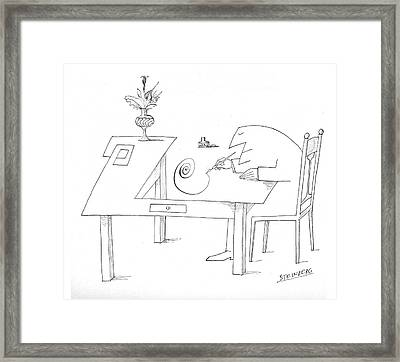 New Yorker May 29th, 1965 Framed Print by Saul Steinberg