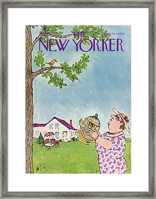 New Yorker May 29th, 1971 Framed Print by William Steig