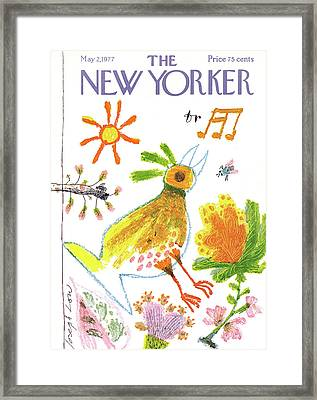 New Yorker May 2nd, 1977 Framed Print by Joseph Low