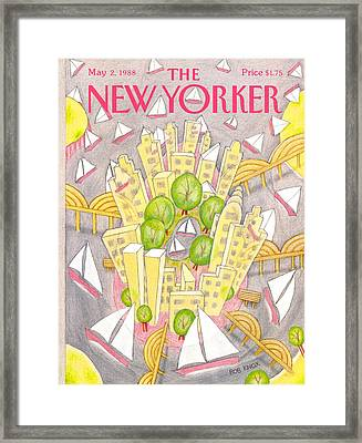 New Yorker May 2nd, 1988 Framed Print by Bob Knox