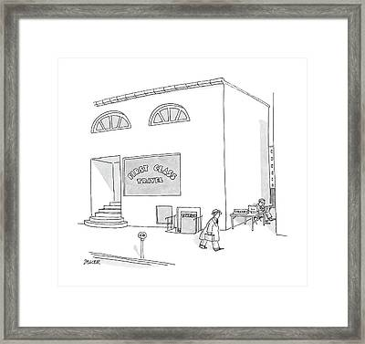 New Yorker May 2nd, 1988 Framed Print by Jack Ziegler