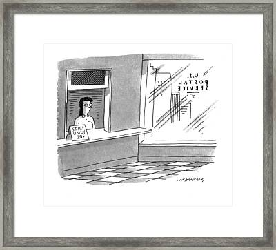 New Yorker May 2nd, 1994 Framed Print by Mick Stevens