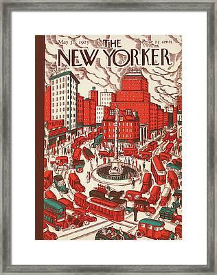 New Yorker May 30th, 1925 Framed Print by Ilonka Karasz