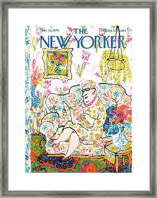 New Yorker May 30th, 1970 Framed Print by William Steig