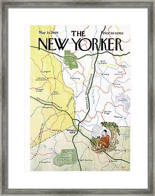 New Yorker May 31st, 1969 Framed Print by James Stevenson