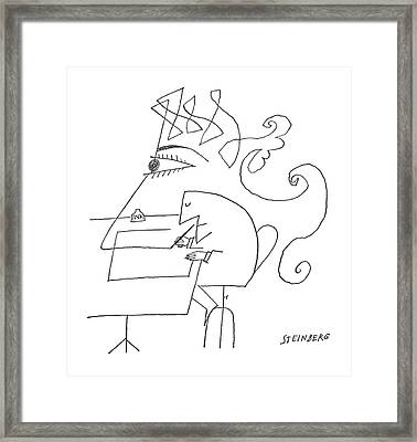 New Yorker May 4th, 1963 Framed Print by Saul Steinberg